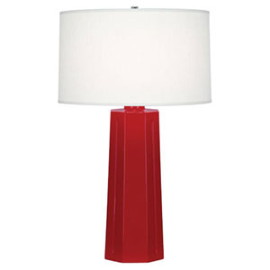 Mason Ruby Red and Polished Nickel One-Light Table Lamp