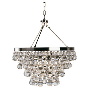 Bling Polished Nickel Four-Light Chandelier