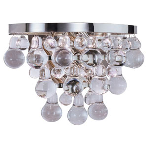 Bling Polished Nickel Two-Light Sconce