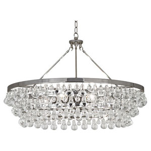Bling Polished Nickel Six-Light Chandelier