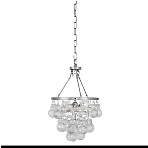 Bling Polished Nickel Two-Light Mini Chandelier