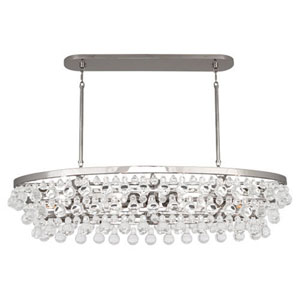 Bling Polished Nickel Eight-Light Chandelier