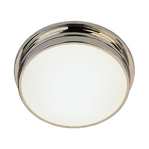 Roderick Polished Nickel Two-Light Flush Mount