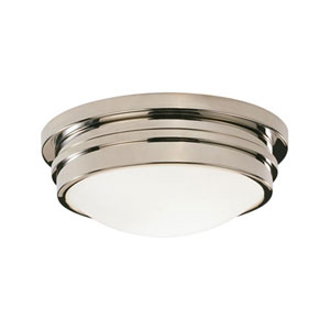 Roderick Polished Nickel One-Light Flush Mount