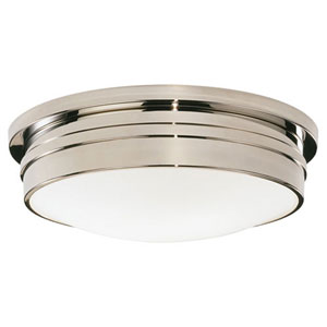 Roderick Polished Nickel Three-Light Flush Mount