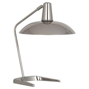 Enterprise Polished Nickel One-Light Desk Lamp