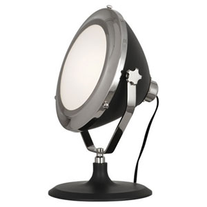 Apollo Charcoal and Polished Nickel One-Light Table Lamp