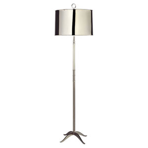 Porter Polished Nickel One-Light Floor Lamp