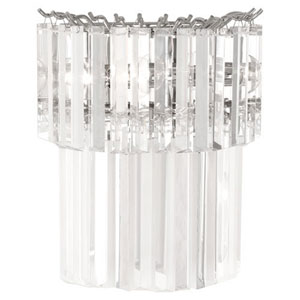 Spectrum Polished Nickel Two-Light Sconce