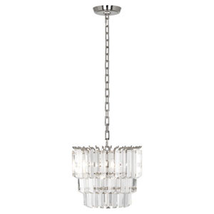 Spectrum Polished Nickel Two-Light Mini Chandelier
