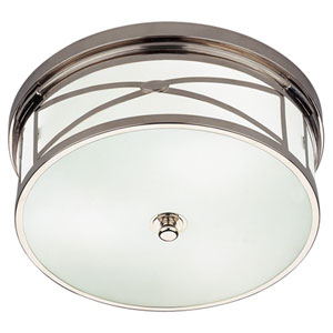 Chase Polished Nickel Three-Light Flush Mount