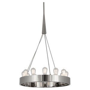 Rico Espinet Candelaria Polished Nickel Twelve-Light Chandelier