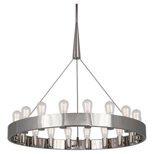 Rico Espinet Candelaria Polished Nickel 18-Light Chandelier