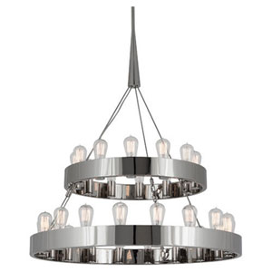 Rico Espinet Candelaria Polished Nickel 30-Light Chandelier