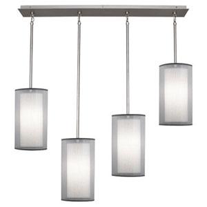 Saturnia Stainless Steel Four-Light Pendant