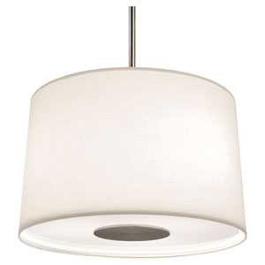Echo Stainless Steel Three-Light Drum Pendant