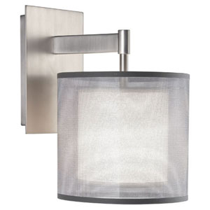 Saturnia Stainless Steel One-Light Sconce