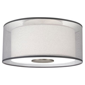 Saturnia Stainless Steel Two-Light Flush Mount