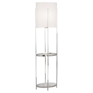 Colonnade Polished Nickel and Carrara One-Light Floor Lamp
