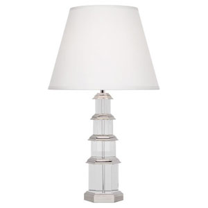 Williamsburg Ming Silver Plate and Crystal One-Light Table Lamp