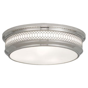 Williamsburg Tucker Polished Nickel Three-Light Flush Mount