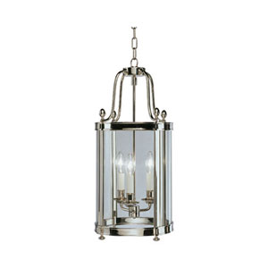 Blake Polished Nickel Three-Light Chandelier