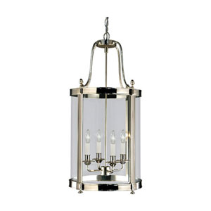 Blake Polished Nickel Four-Light Chandelier