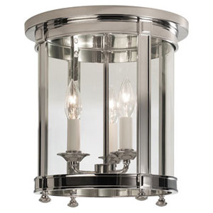 Blake Polished Nickel Three-Light Flush Mount