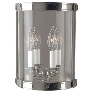 Blake Polished Nickel Two-Light Sconce