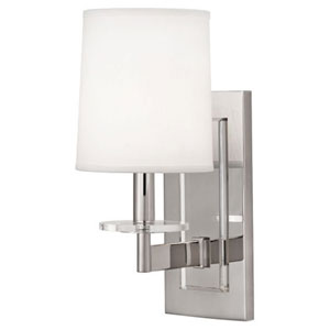 Alice Polished Nickel and Lucite One-Light Sconce