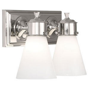 Williamsburg Blaikley Polished Nickel Two-Light Vanity