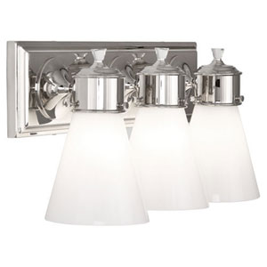 Williamsburg Blaikley Polished Nickel Three-Light Vanity