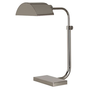 Koleman Polished Nickel One-Light Desk Lamp