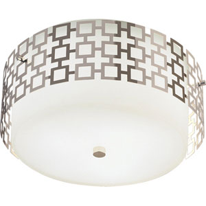 Jonathan Adler Parker Polished Nickel Three-Light Flush Mount