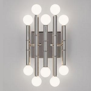 Jonathan Adler Meurice Polished Nickel Ten-Light Sconce