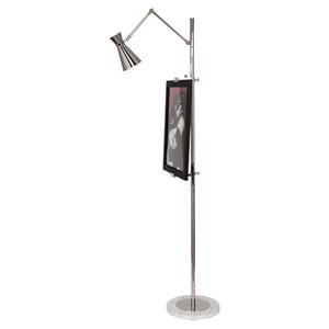 Jonathan Adler Bristol Polished Nickel One-Light Floor Lamp