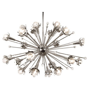 Jonathan Adler Sputnik Polished Nickel 33.5-Inch 24-Light Chandelier