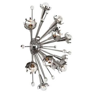 Jonathan Adler Sputnik Polished Nickel 24-Inch Twelve-Light Sconce