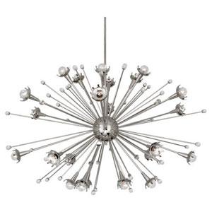 Jonathan Adler Sputnik Polished Nickel 48-Inch 24-Light Chandelier