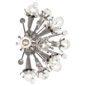 Jonathan Adler Sputnik Polished Nickel 13.5-Inch Twelve-Light Sconce