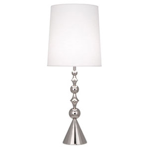 Jonathan Adler Harlequin Polished Nickel One-Light Table Lamp