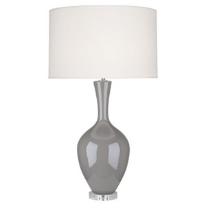 Audrey Smokey Taupe One-Light Table Lamp