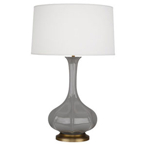 Pike Smokey Taupe and Aged Brass One-Light Table Lamp
