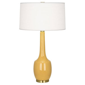 Delilah Sunset and Antique Brass One-Light Table Lamp