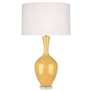 Audrey Polished Nickel and Sunset One-Light Table Lamp