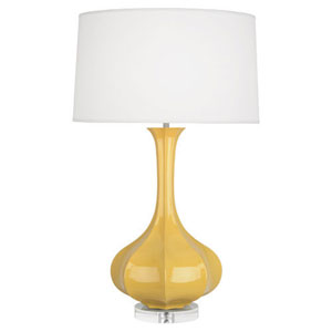 Pike Sunset and Polished Nickel One-Light Table Lamp