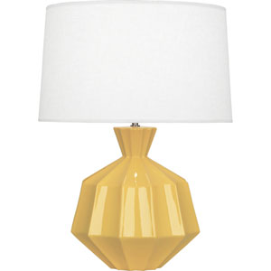 Orion Sunset Yellow One-Light 27-Inch Ceramic Table Lamp