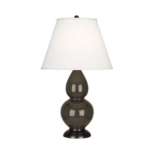 Small Double Gourd Brown Tea and Bronze One-Light Lamp with Empire Shade