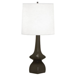 Jasmine Coffee Glazed Ceramic One-Light Table Lamp