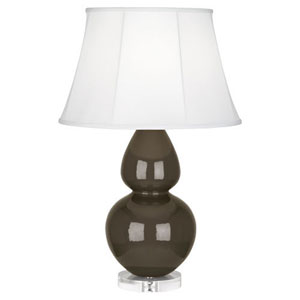 Double Gourd Brown Tea One-Light Table Lamp